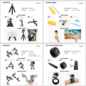 Image 5 - Vamson for GoPro accessories 42 in 1 Set Family Kit for SJ4000 package for GoPro HD Hero 7 6 5 4 for xiaomi
