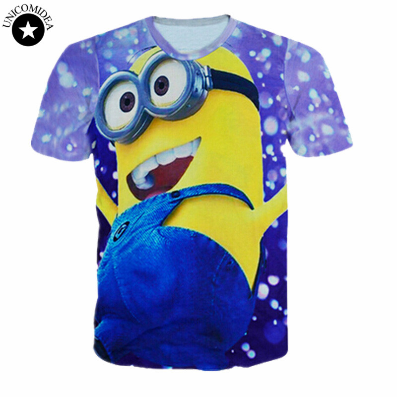 Hot Fashion Funny Minions T Shirt Hot Style Funny Tshirt Summer Cartoon T Shirts Unisex Women/men Top Tees T-shirt Tops
