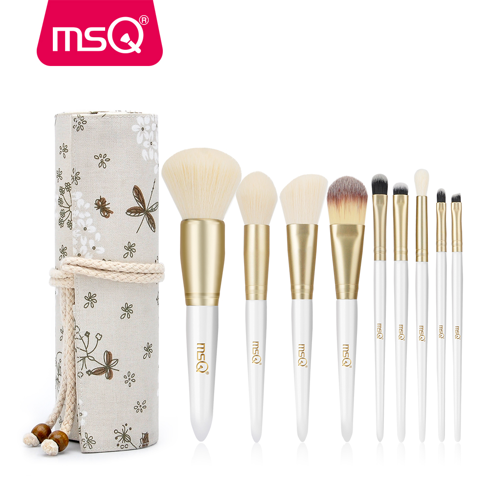MSQ 9 stücke Make-Up Pinsel Set Pulver Rouge Foundation Pinsel Set Auge Make-Up Pinsel Weiche Synthetische Haar Mit High End Harz Fall