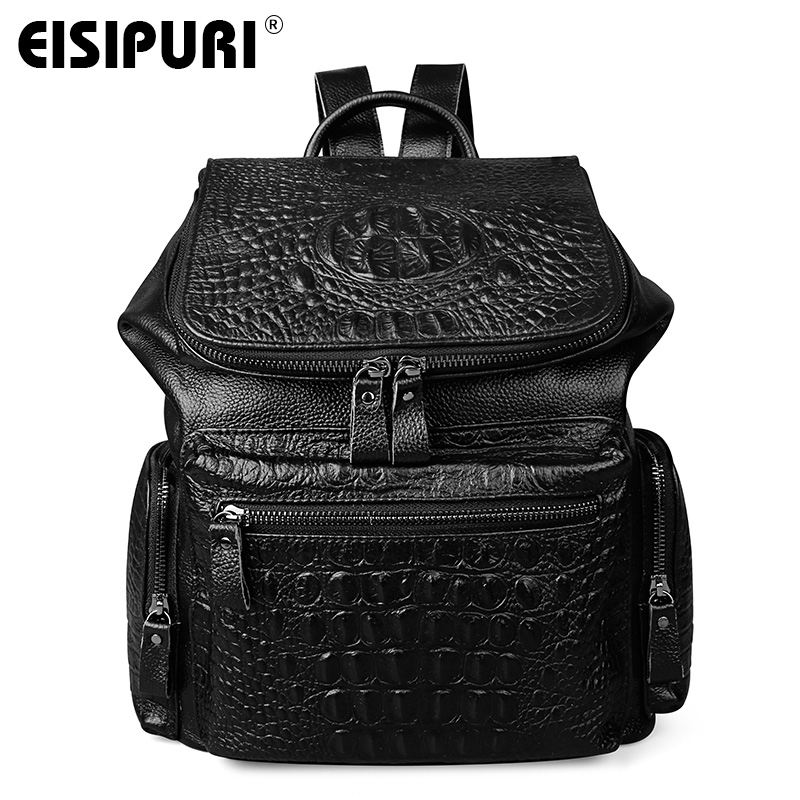 2017 NEW Men Genuine Leather Backpack High Quality Travel Rucksack School Book Bag Laptop Business bagpack mochila Shoulder Bag marrant genuine leather backpacks men shoulder bag men bag leather laptop bag 15 inch men s luggage travel bags school backpack