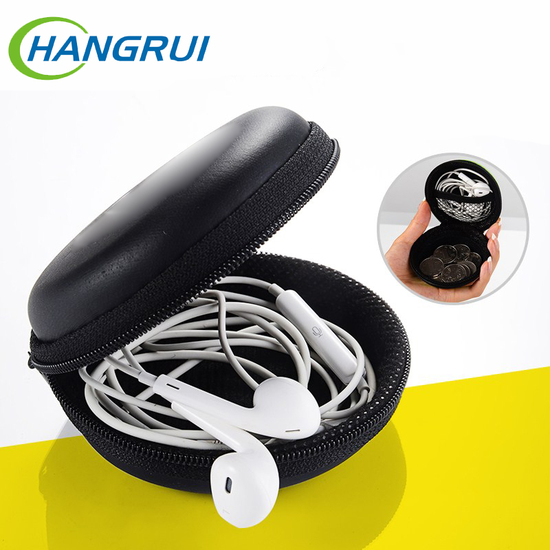 Portable Earphone Case Bag Earphones Accessories Mini Memory Card USB Cable  Organizer Double Layered Headset Storage Box
