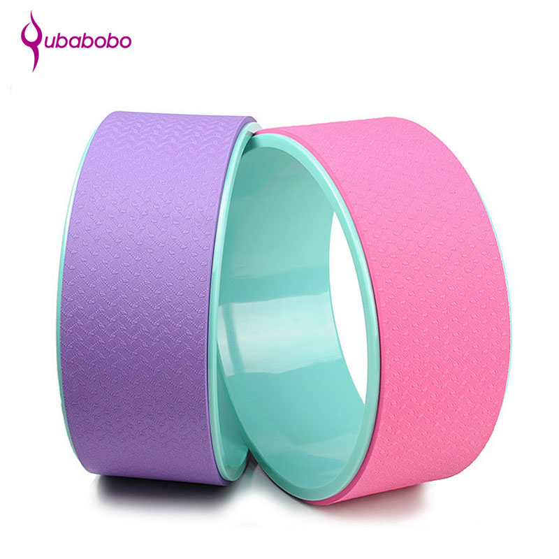 [QUBABOBO] ABS Yoga Circles Pilates Fitness Exercise Training Equipment Professional Body Building Gym Sports Yoga Wheel yoga circles pilates professional waist shape bodybuiling abs gym workout yoga wheel back training tool fitness