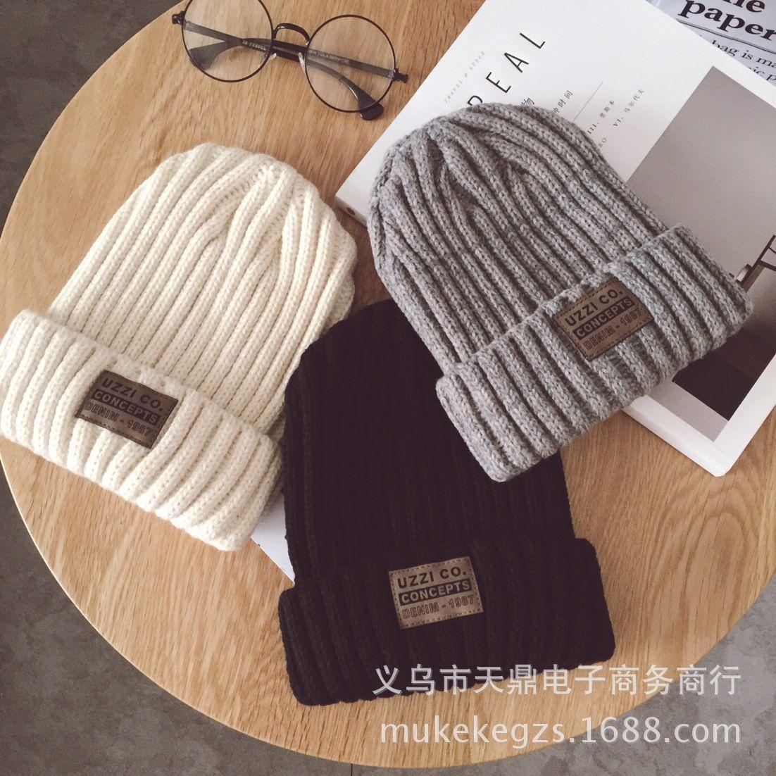 Fashion thick Twist Thread Knitted Hat Children Female Artificial Winter Hats Caps Girl Women thread Knit Beanies 2