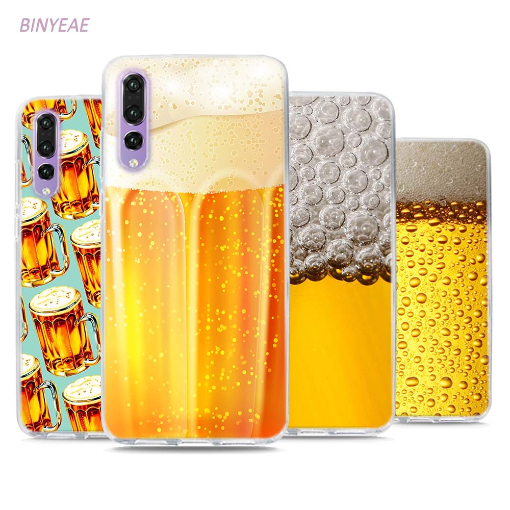 BINYEAE развлечение к пиву Открытая Летняя обувь кожи Стиль ясно Чехлы ТПУ телефон для huawei P20 Lite Honor 9 8 Lite 7X 6A 6X 6C Pro