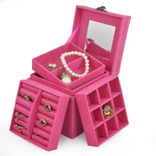 Rose Ring Necklace Bracelet Display Storage Vintage Box Organiser