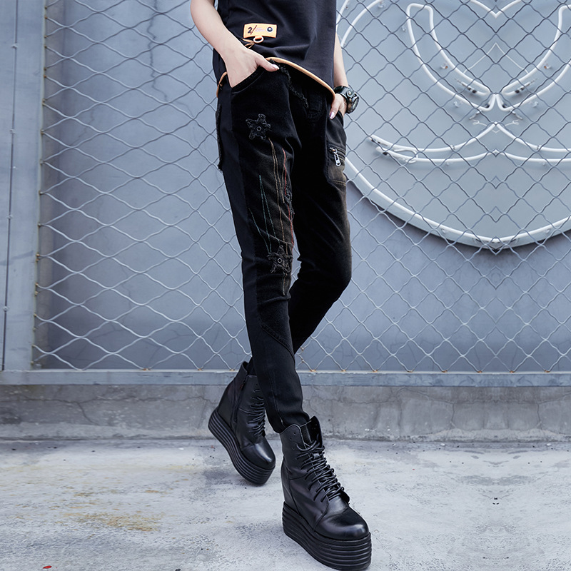 Casuales Primavera Algodón k137 A110 De Jeans 2019 Elástica Hip Mezclilla  Cintura Hop Regular Nueva Pantalones Mujer ... 59e221cfe01