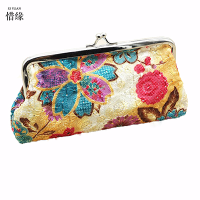 XIYUAN BRAND women boho national embroidery bag embroidered handbags ethnic handbag clutch bags,womens wallets and purses money national trend women handmade faced flower embroidered canvas embroidery ethnic bags handbag wml99
