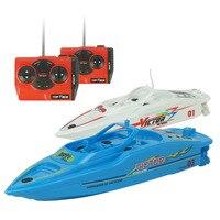 Mini רדיו מבוקר חתירה ספינת RC סירת מנוע מהיר 2.4 גרם 4CH PVC דגם צעצועי בנים חיצונית סירת שלט רחוק