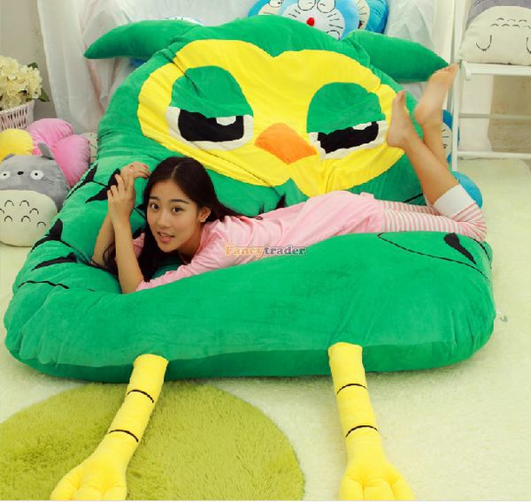 Fancytrader Funny 288cm X 186cm Giant Cute Plush Soft Stuffed Owl Tatami Bed Sofa Mattress, Nice Gift, Free Shipping FT50681 fancytrader new style giant plush stuffed kids toys lovely rubber duck 39 100cm yellow rubber duck free shipping ft90122
