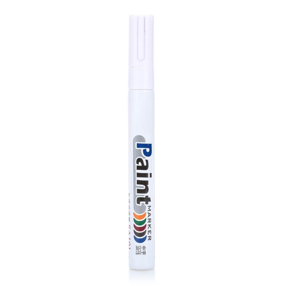 10 цветов водонепроницаемая автомобильная шина масляная автомобильная краска ручка краска ing Mark Ручка Авто резиновая шина протектора CD металлический маркер с перманентной краской - Цвет: white