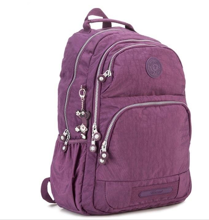 children School Backpack for Teenage Girls Nylon Casual Mochila Feminina Backpacks Women Solid Brand Laptop Bagpack Female 2018