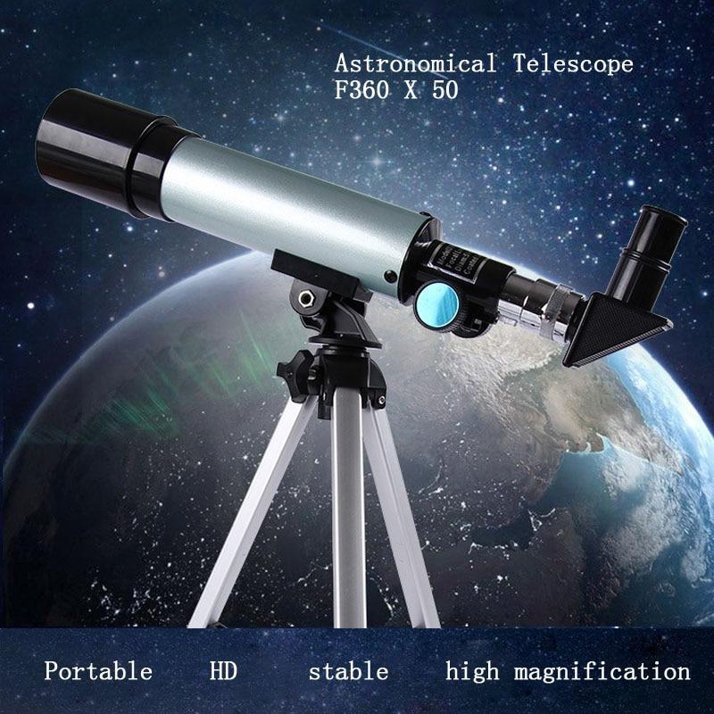 Télescope professionnel HD télescope astronomique monoculaire avec trépied réfracteur Spyglass Zoom haute puissance longue-vue puissant