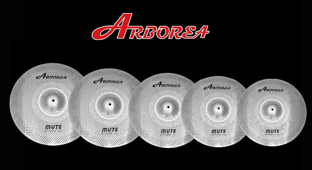 Arborea Low volume cymbal Set 14hihat+16crash+18crash+20rideArborea Low volume cymbal Set 14hihat+16crash+18crash+20ride