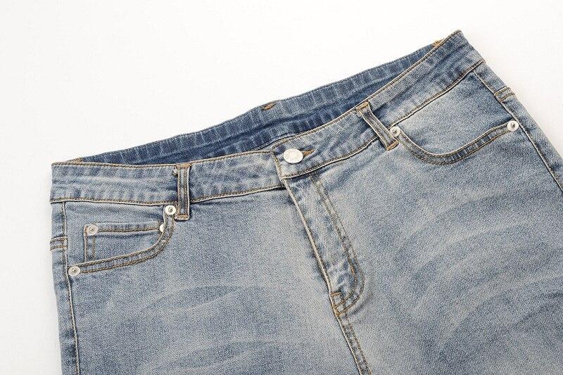 Crayon Mince Multi Denim Longueur Automne Haute Casual Pantalon 2017 Taille Patchwork Maigre Hiver Jeans Gruiiceen Pleine xqIzaPZx
