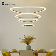 Triangle White&Black Body Hanging Lamps Modern LED Pendant Lights For Living Room Dining Acrylic Fashion