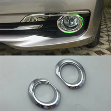 Car Accessories Exterior Decoration ABS Chrome Front Fog Light Fog Lamp Cover Trim For BMW 3 Series 2017 Car Styling car accessories exterior decoration abs chrome rear fog light fog lamp cover trim for kia k2 rio 2017 car styling