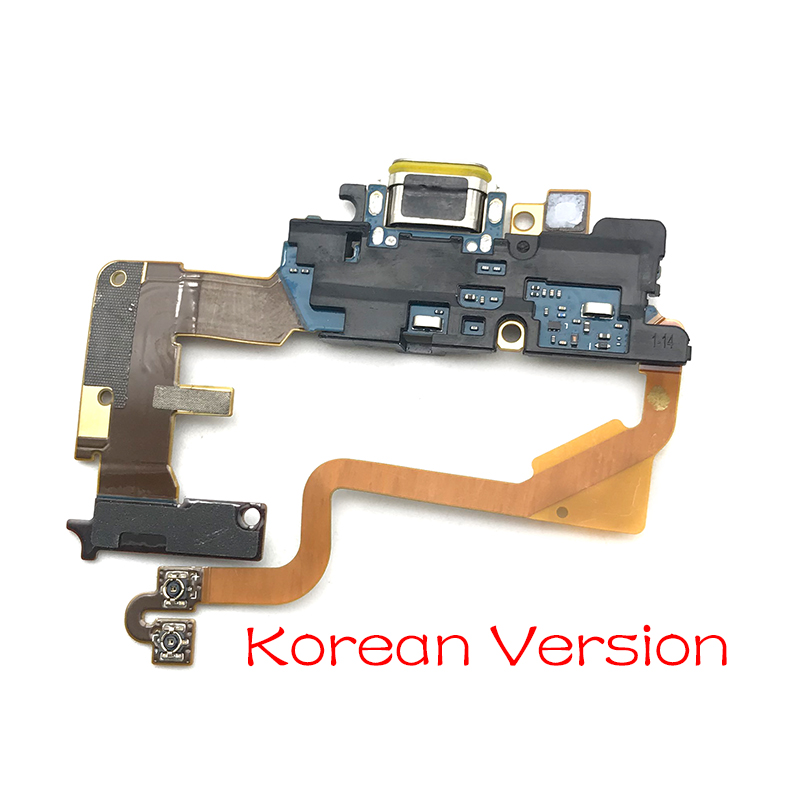Image 2 - 10pcs/lot,For LG G7 Thinq G710 Dock Connector Micro USB Charger Charging Port Flex Cable Board With Microphone Replacement Parts-in Mobile Phone Flex Cables from Cellphones & Telecommunications