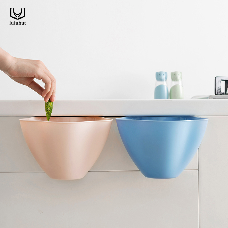 luluhut creative kitchen garbage bucket plastic trash can waste bin with handle vegetable container rubbish box kitchen tools