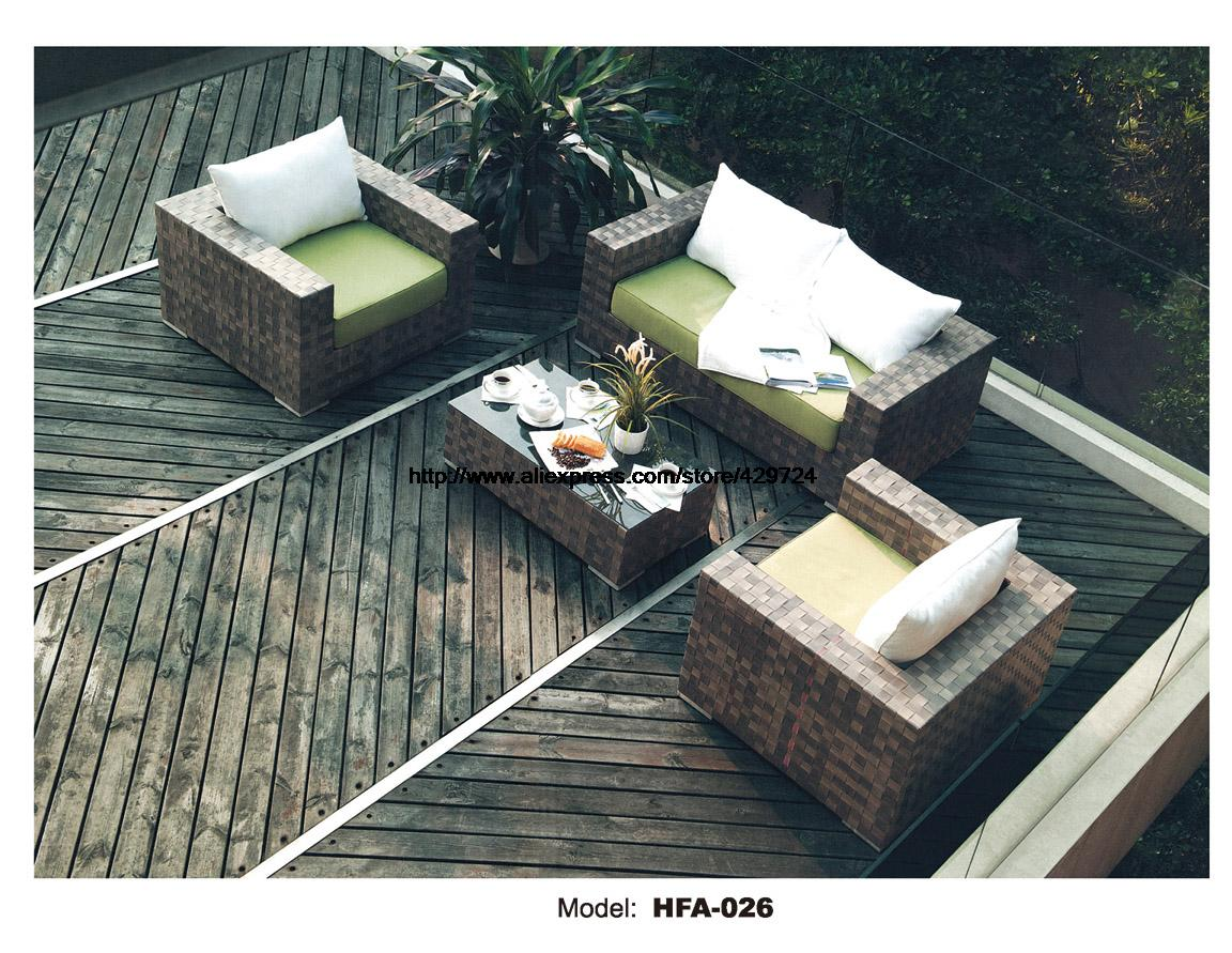 Classic Outdoor Furniture Healthy Rattan Sofa Set 1+2+3 Model Whole Set Include Table Cushions Sectional Sofa Furniture HFA026 circular arc sofa half round furniture healthy pe rattan garden furniture sofa set luxury garden outdoor furniture sofas hfa086