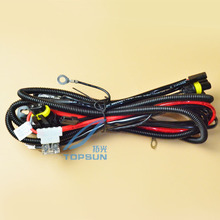 35W 55W high and low Beam HID Bixenon Controller Cable Relay Harness H L beam control_220x220 compare prices on h4 relay harness online shopping buy low price Custom Auto Wire Harness H4 at aneh.co