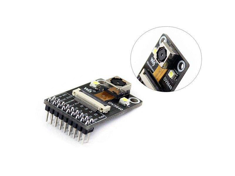 Caméra Module Basé sur OV5640 Capteur D'image, 5 Mégapixels (2592x1944), Mise Au Point Automatique avec À Son Bord Flash LED