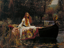 figurative art posters canvas painting portrait mural prints art home decor picture the lady of Shalott John William Waterhouse alfred tennyson the lady of shalott