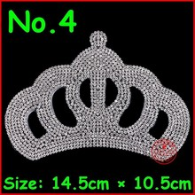 3 Pcs/Lot Cute Crown design hotfix Rhinestud heat transfer iron on motifs spatches, DIY rhinestones,Free shipping