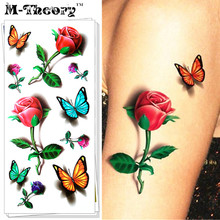 M-Theory 3D Temporary Makeup Tattoos Sticker Butterfly Flash Tatoos Henna Tatuagem Body Art Tatto Sticker Swimsuit Makeup Tools