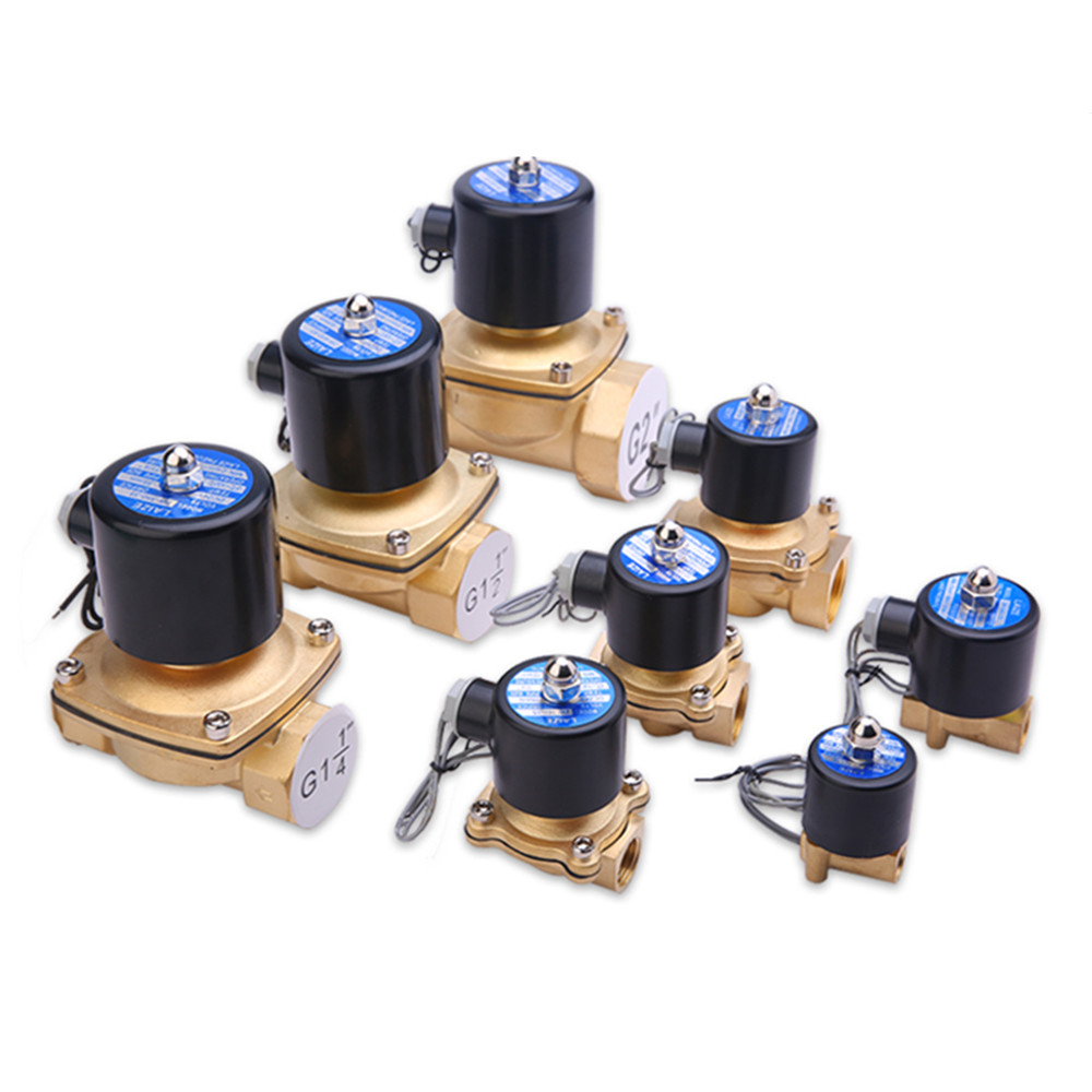 Brass Electric Solenoid Valve Pneumatic Valve for Water / Oil / Gas DN6 DN20 DN8 220V DC24V free shipping3 4 port size dn20 ip68 class under water brass electric solenoid valve waterproof coil music fountain valve dc24v