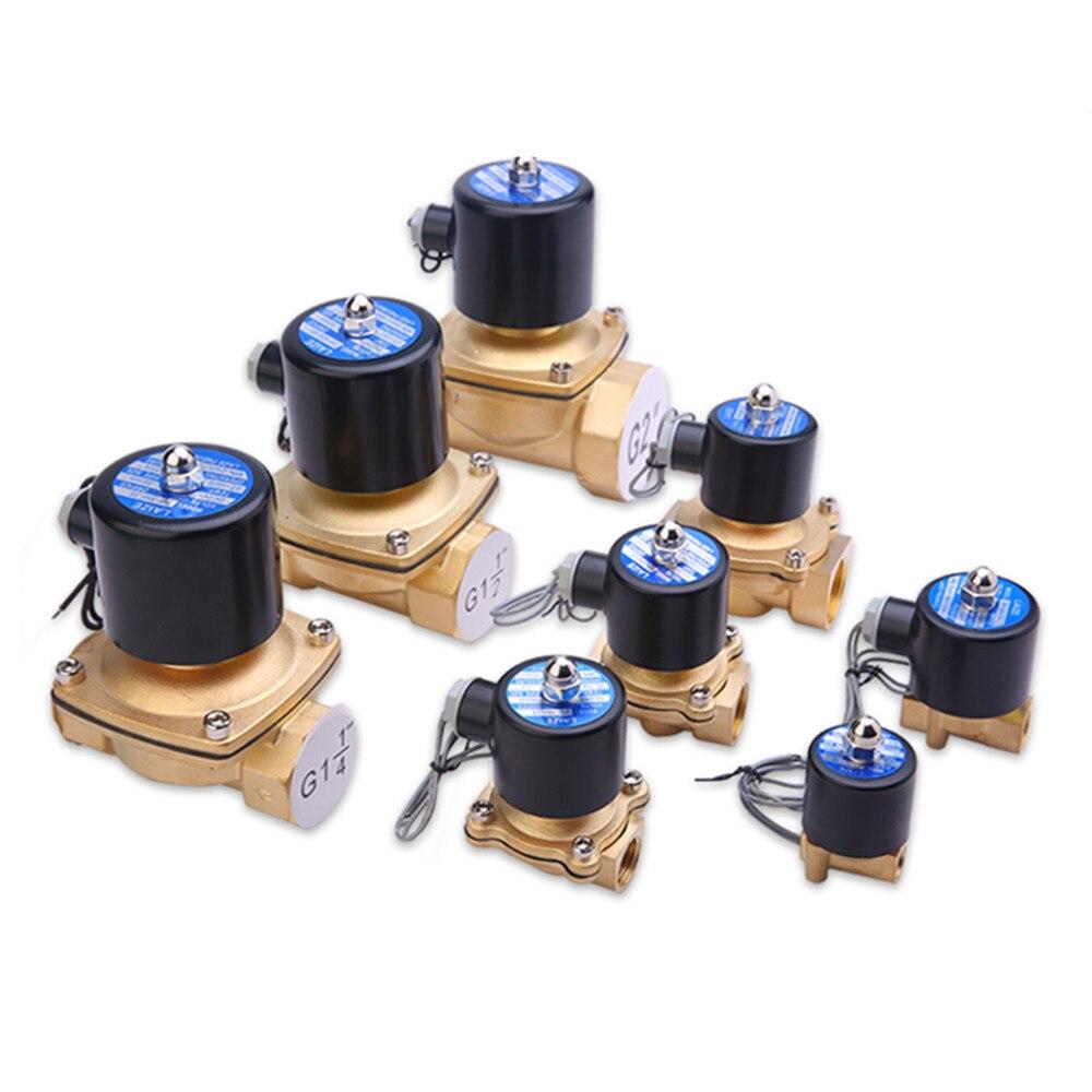 Brass Elettrico Elettrovalvola Pneumatica Valvola per Acqua/Olio/Gas DN6 DN20 DN8 220 V DC24V
