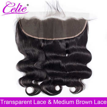 Celie Brazilian Body Wave HD Transparent Lace Frontal Closure With Baby Hair Ear to Ear Human Hair Swiss Lace Frontal Closure - DISCOUNT ITEM  41% OFF All Category