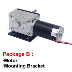 Image 3 - 高トルクワームギヤードモータ 12 v 24 v dcモータ軸の長さ 51 ミリメートルスピード 5 に 470 rpm自己ロック可変速逆