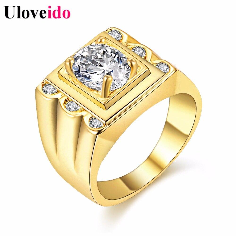 557721bf663c இ5% de descuento Color Crystal Anillo de Compromiso de Oro para Los ...