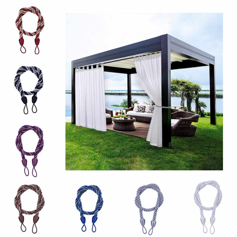 Rope Odds Curtains Tie Black Decors Usage Ropes Tie Backs for Window Curtain Cord Buckle Tiebacks Braided Tie Backs USPS