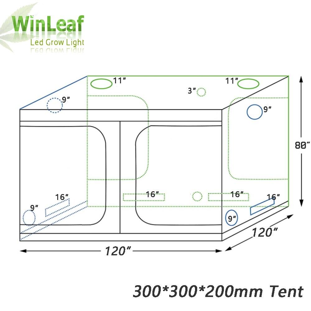 Grow tent invernadero hidropónico de interior 300*300*200mm caja habitación cultivo de plantas, reflexivo Mylar no tóxico invernaderos jardín