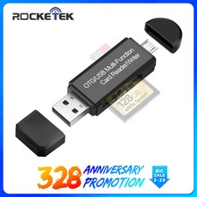 Rocketek usb 2.0 multi memory card reader OTG android adapter cardreader for micro SD/TF microsd readers laptop computer(China)