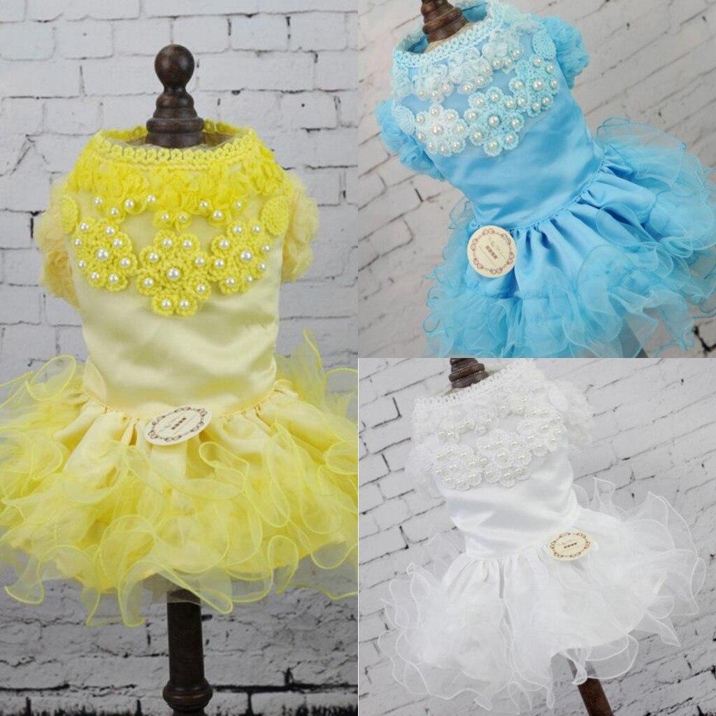Acheter NOUVEAU Mode De Luxe Robe De Mariage De Chien Jupe Vêtements pour Vêtements de Cérémonie 3 Couleur XS S M L XL de Dog Skirts fiable fournisseurs