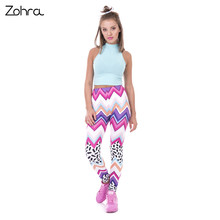 Spring Fashion Women Leggings Zig Zag And Dashes Printing