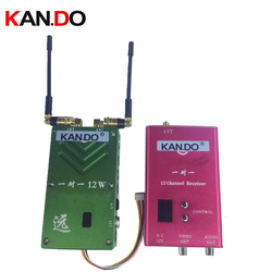 penetrate 12 floors 12W special 1.2G not interference cctv transceiver Video Audio Transmitter transmission drone transmitter