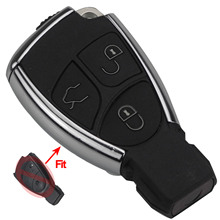 цены на Bilchave Smart Car Key Shell For Mercedes For Benz B C E ML S CLK SLK CL GL Chrome Battery Holder Auto Remote Key Fob 3 Buttons в интернет-магазинах