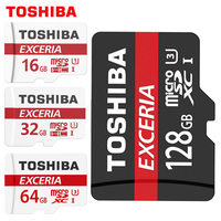 TOSHIBA 100 Original Memory Card 128GB 64GB 32GB UHS 3 Max Read Speed 90M S 16GB