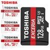 TOSHIBA 100% original Memory Card 128GB 64GB 32GB UHS-3 Max Read Speed 90M/s 16GB micro sd card UHS-3 flash card Memory Microsd
