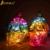 2016 Criativo Crânio Night Light Coloridos Crânio de Vidro Luminosa LED Night Lamp Atumosphere Candeeiros De Mesa Para Holloween, Bar, quarto