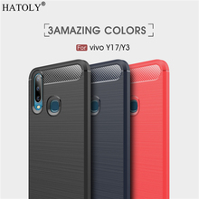 Cover Vivo Y17 Case Business Style Soft Silicone Rubber Armor Shell Protective Phone for