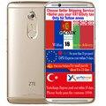 Оригинал ZTE AXON 7 A2017 Qualcomm Snapdragon 820 Кач Ядро 6 Г RAM 128 Г ROM 5.5 дюйма 2560*1440 20 М КАМЕРЫ Смартфон Android 6.0 БАТ