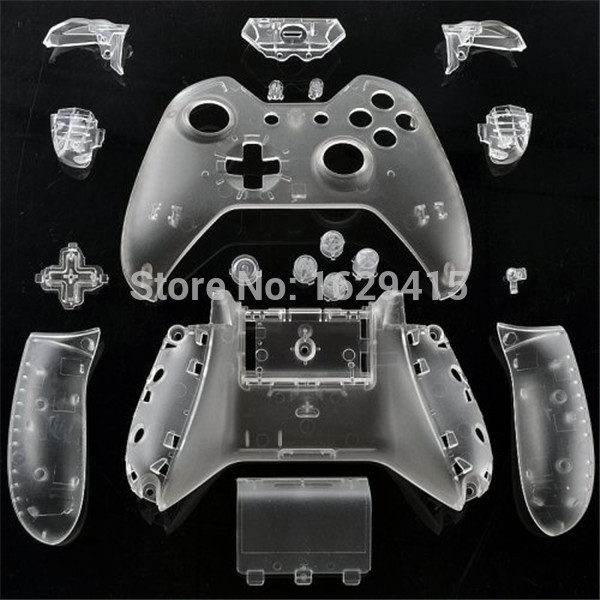 IVYUEEN Custom Clear Transparent Replacement Shell Mod Kit For X BOX One 1 Wireless Controller Case Cover For XBox Console