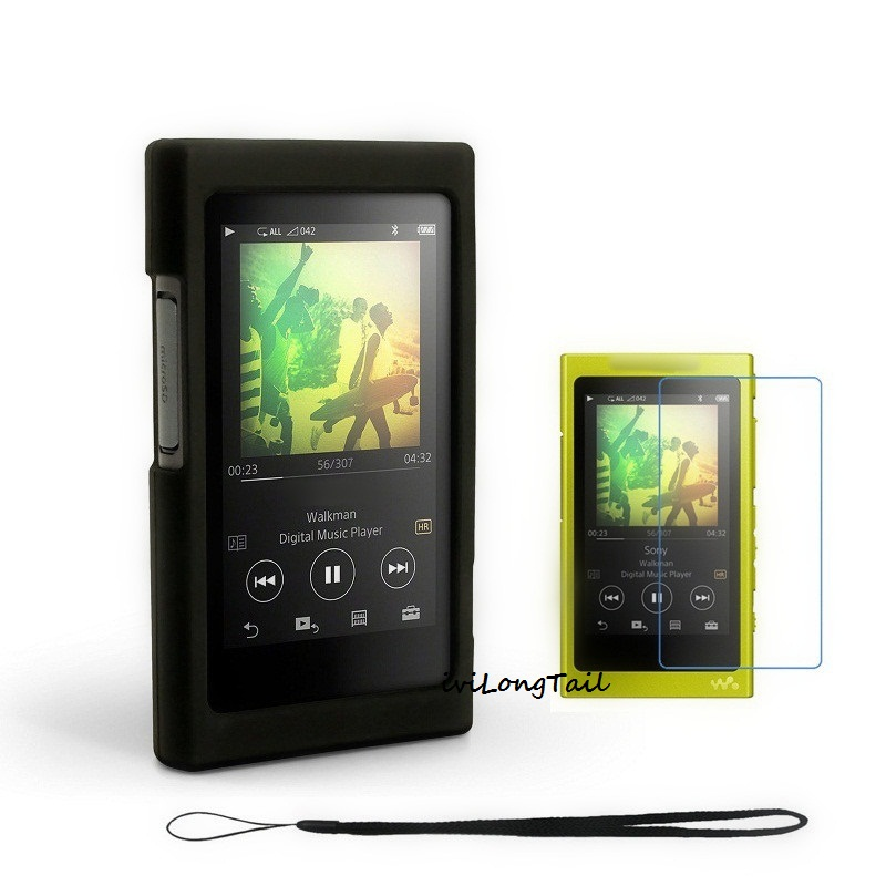 Case Film Strap for Sony Walkman NW A45 A35 A36 A35HN A36HN A37HN Silicone Cover NWZ-A45 A35 A36 A37 Screen Protector MP3
