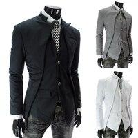 2017 أعلى ماركة أزياء الرجال سترة ضئيلة تصميم متناظرة سهرة سترة 3 لون 4 حجم أعمال NZ55