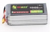 Original Ultra high Capacity Lion Power 6S Lipo Battery 22.2V 10400MAH 25C RC Heilecopter Car Boat 6S 10000mah Battery