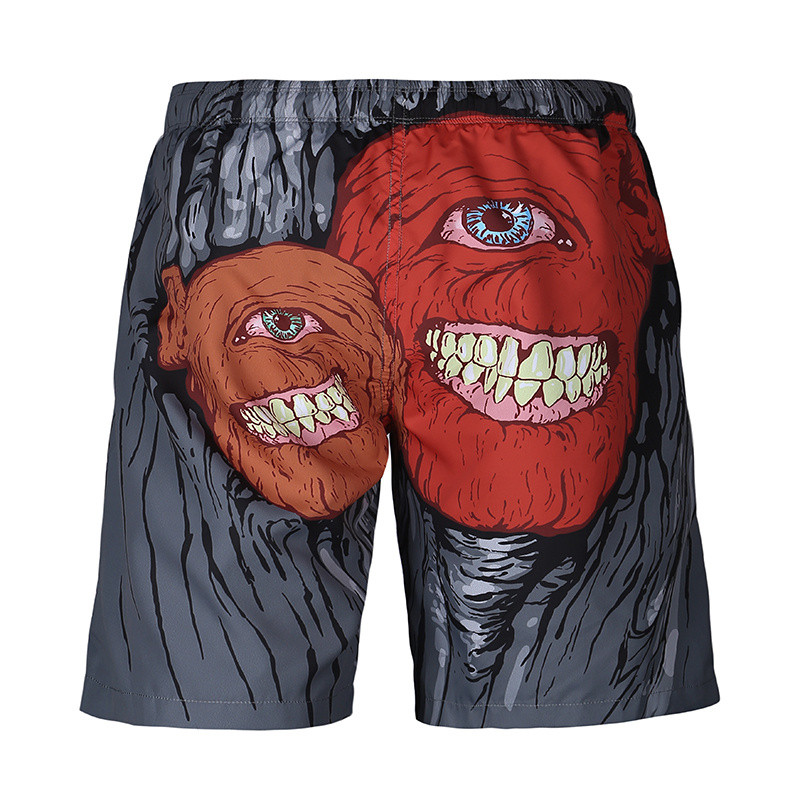 2017 Mr.BaoLong&Miss.GO 2017 Summer Hot The New Men's 3D printing   Board     Shorts   One-eyed Monster printing   Shorts   Men's Clothing
